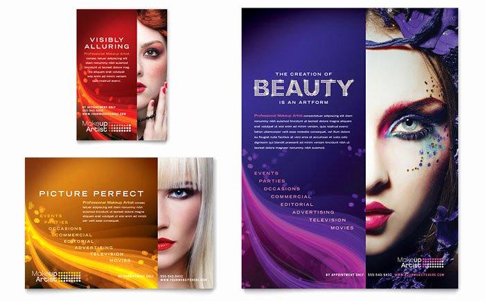 Makeup Artist Website Template Inspirational Makeup Artist Flyer & Ad Template Design