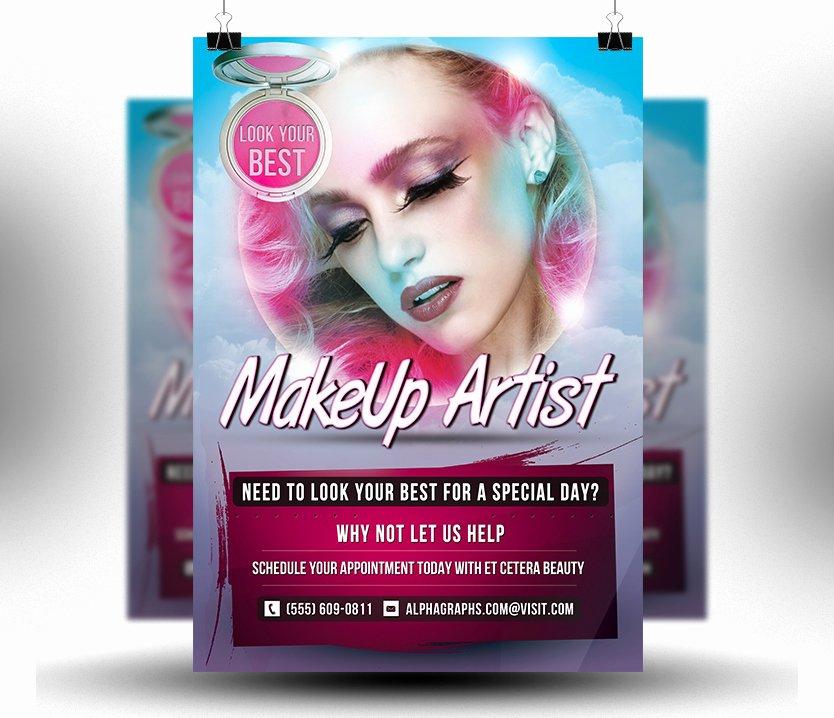 Makeup Artist Website Template Inspirational Makeup Artist Flyer Template Free Yourweek Db8deaeca25e