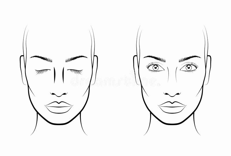 Makeup Artist Website Template Inspirational Young Woman Face Chart Makeup Artist Blank Template