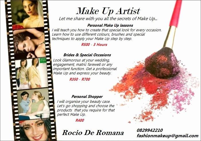 Makeup Artist Website Template Unique Makeup Artist Flyer Template Free Yourweek Db8deaeca25e