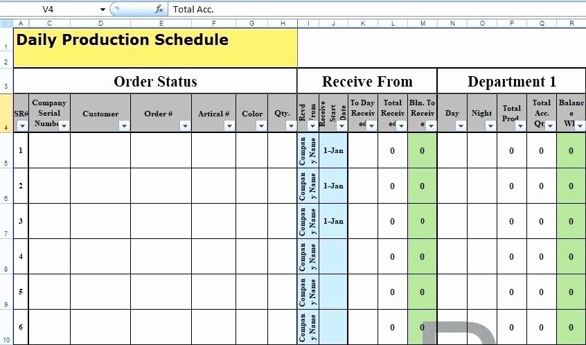 Manufacturing Production Schedule Template Beautiful Excel Manufacturing Equipment Calculator Templates Free