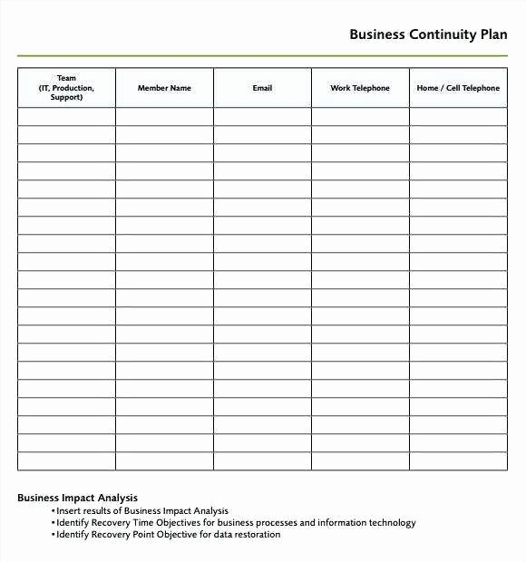 Manufacturing Production Schedule Template New 23 Amazing Business Continuity Plan Template for
