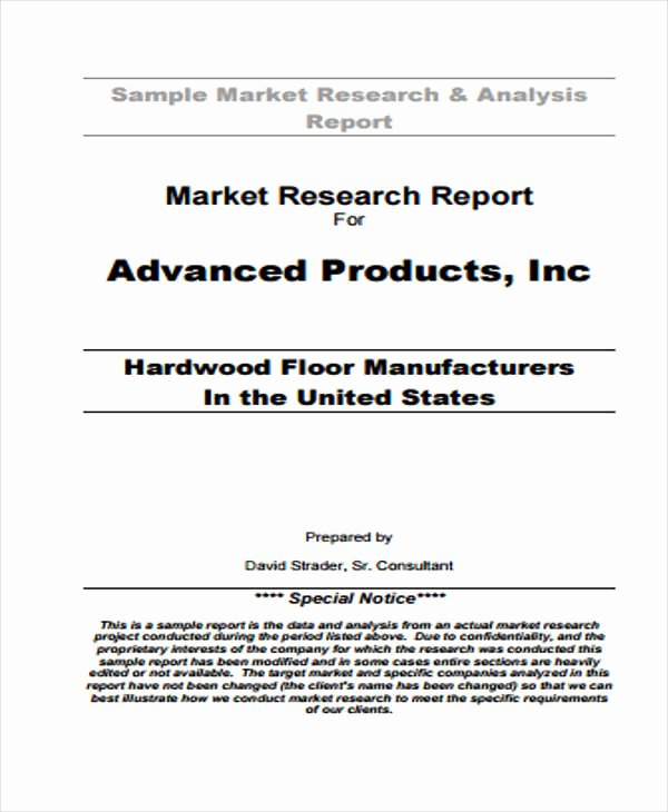 Market Analysis Report Template Awesome 9 Research Report formats Free Sample Example format