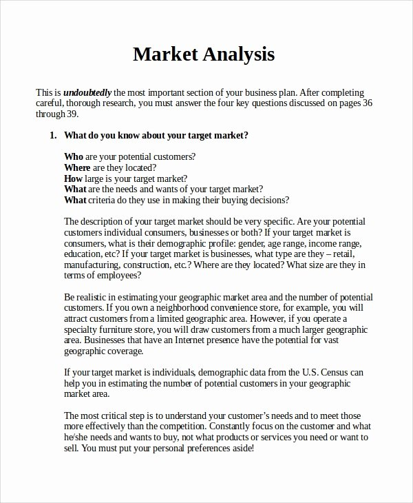 Market Analysis Report Template New 13 Sample Market Analysis – Pdf Doc