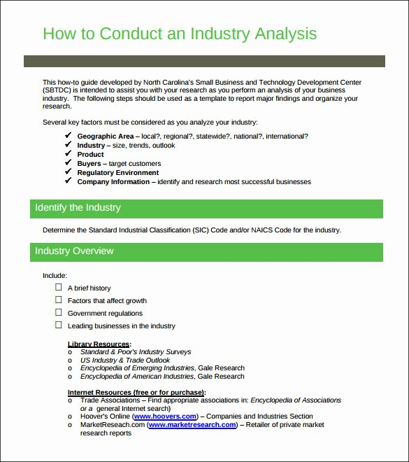 Market Analysis Report Template Unique 12 Industry Analysis Templates Doc Pdf