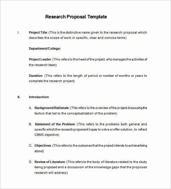 Market Research Proposal Template Beautiful Research Proposal Templates 17 Free Samples Examples