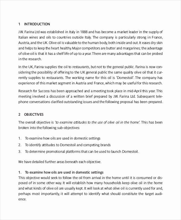 Market Research Proposal Template Elegant 30 Proposal formats