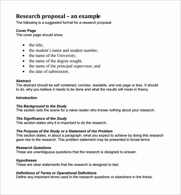 Market Research Proposal Template Elegant Sample Research Proposal Template 5 Free Documents