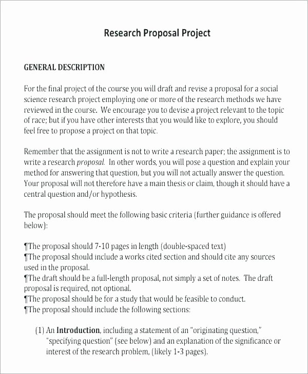 Market Research Proposal Template Fresh Marketing Project Proposal Template Marketing Business
