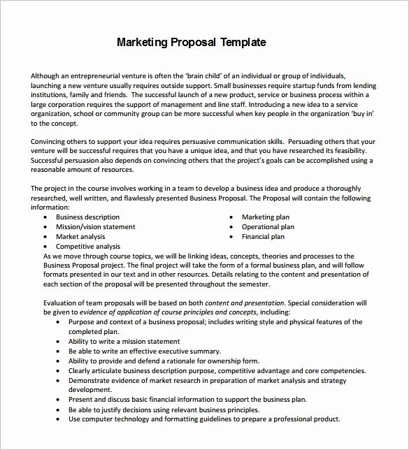 Market Research Proposal Template Fresh Marketing Proposal Templates 26 Free Word Excel Pdf