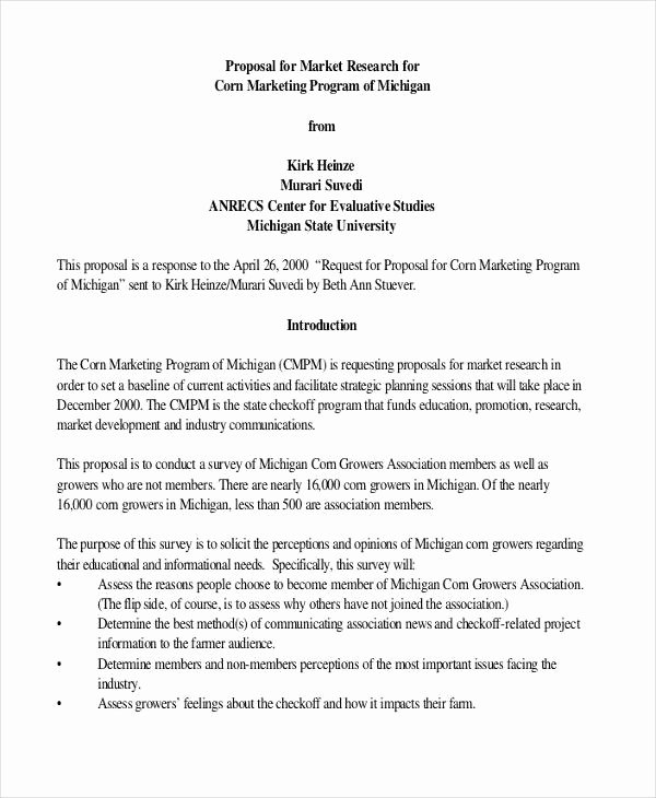 Market Research Proposal Template Lovely 26 Project Proposal Examples Word Pdf