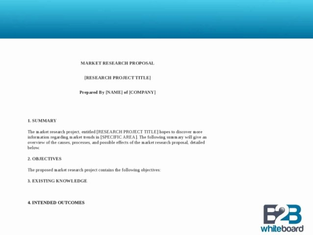 Market Research Proposal Template Luxury Marketing Research Proposal Template