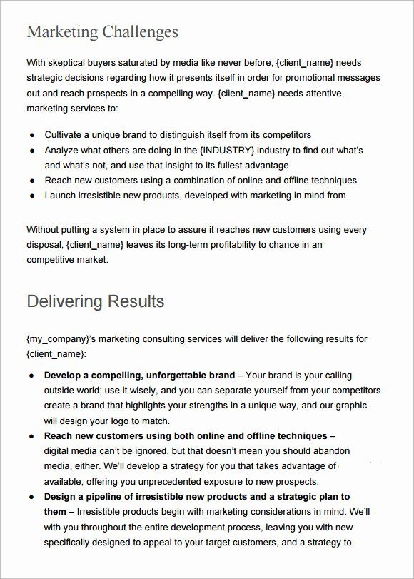 Market Research Proposal Template New 19 Marketing Proposal Templates