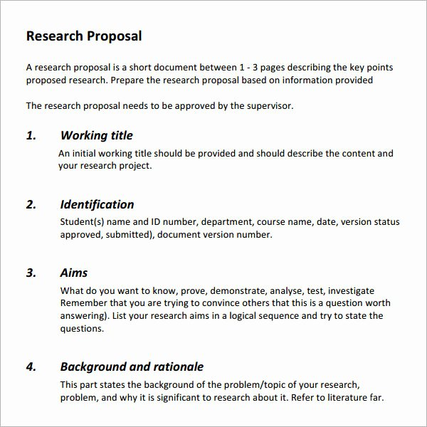 Market Research Proposal Template New Example Of Marketing Research Proposal Best and