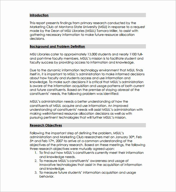 Market Research Proposal Template New Research Proposal Templates 17 Free Samples Examples