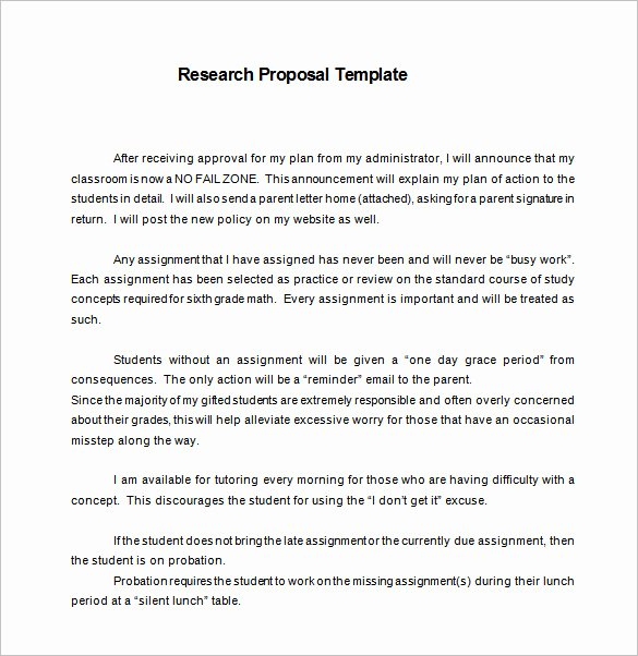 Market Research Proposal Template Unique 13 Research Proposal Templates Doc Pdf Excel