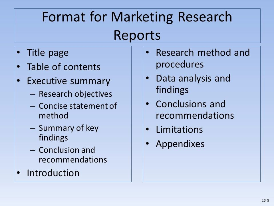 Market Research Report Template Awesome Municating Marketing Research Findings Ppt Video