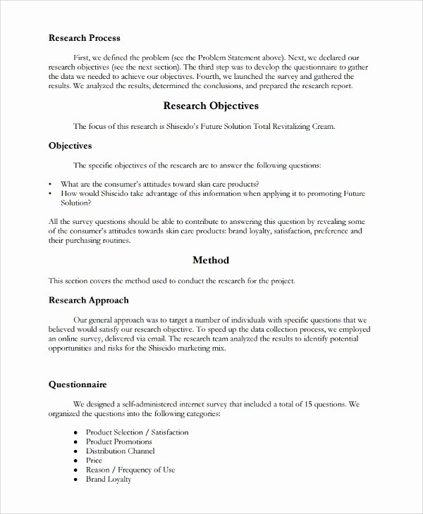 Market Research Report Template Beautiful 13 Research Report Templates