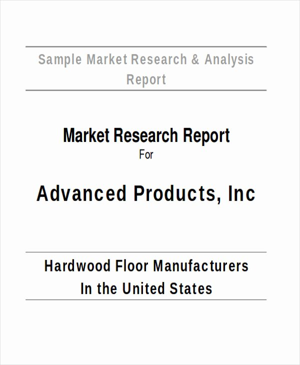 Market Research Report Template Elegant 41 Report format Samples