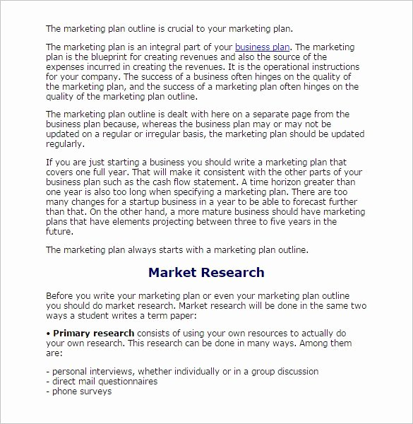 Market Research Report Template Elegant 8 Research Paper Outline Templates Doc Excel Pdf