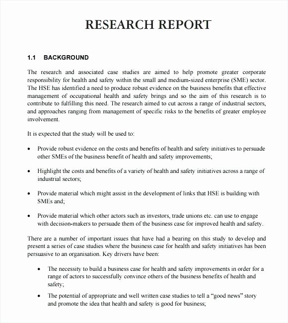 Market Research Report Template New Research Report Template Word – Buildingcontractor