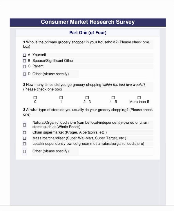 Market Research Survey Template Beautiful 60 Sample Survey forms