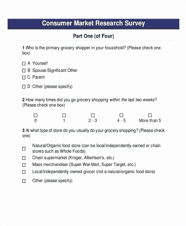 Market Research Survey Template Best Of E Merce Questionnaire Questions Learn How to Create A