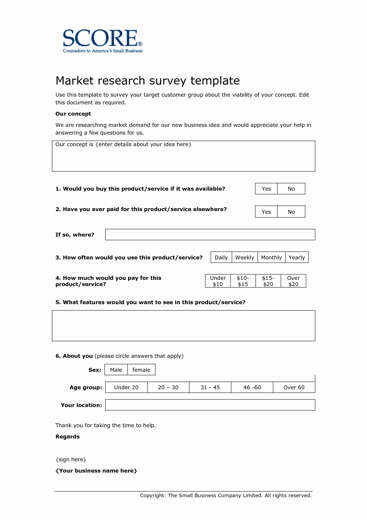 Market Research Survey Template Fresh Template Questionnaire for Research