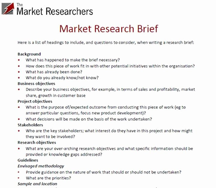 Market Research Survey Template Inspirational 10 Market Research Proposal Templates Word Pdf Pages