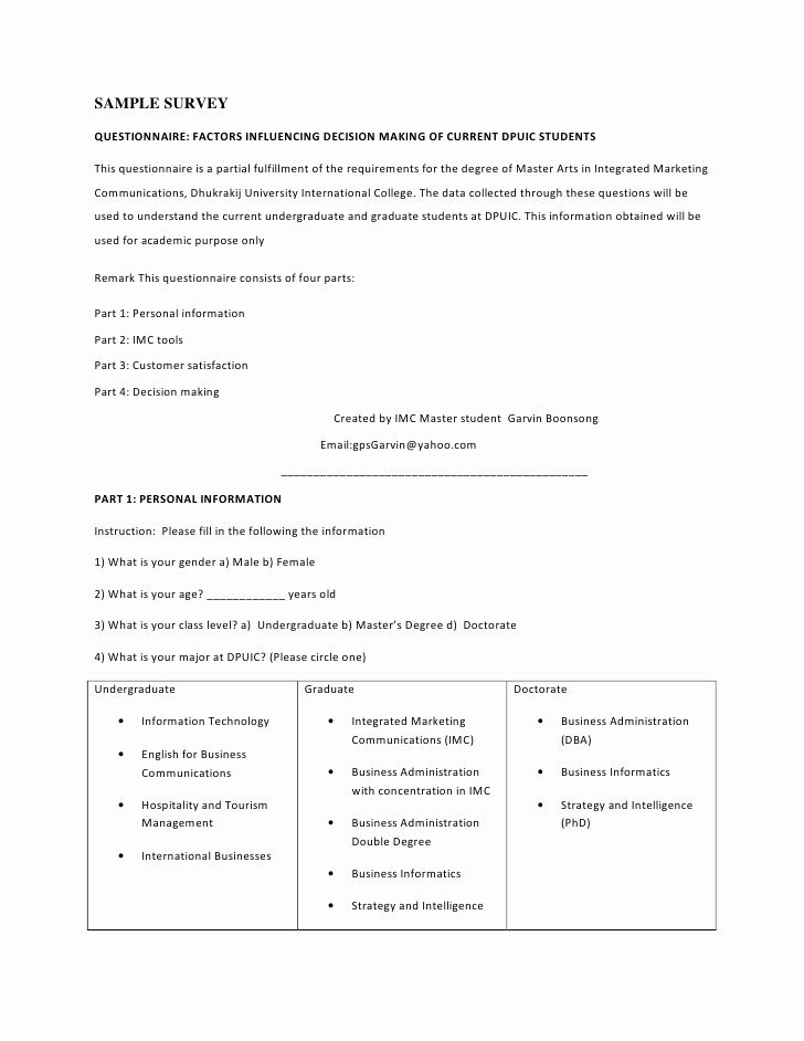 Market Research Survey Template Luxury Survey Templates for Market Research