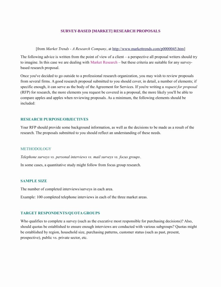 Market Research Survey Template Unique 10 Market Research Proposal Templates Word Pdf Pages