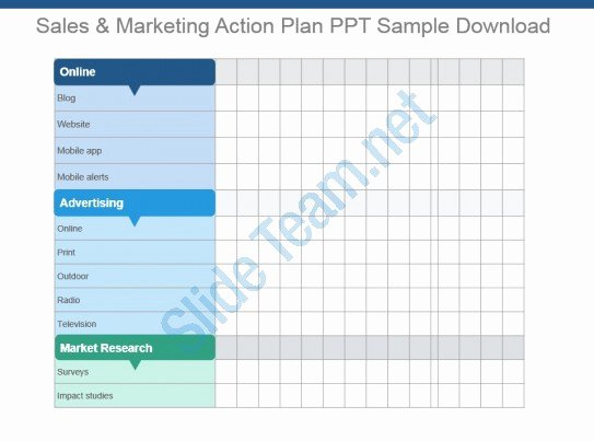 Marketing Action Plan Template Awesome Sales and Marketing Action Plan Ppt Sample Download