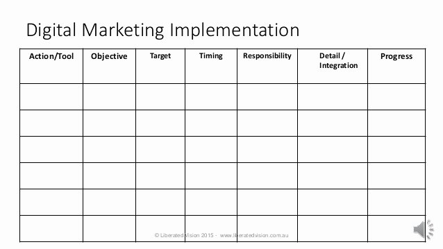Marketing Action Plan Template Best Of Digital Marketing Plan Template 10 2015