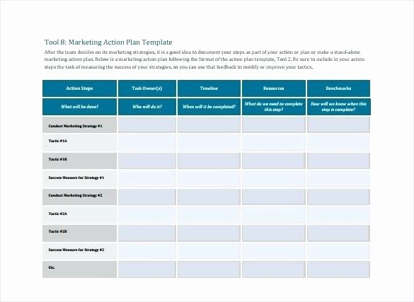 Marketing Action Plan Template Excel Awesome Action Plan Templates Excel Business Process Improvement