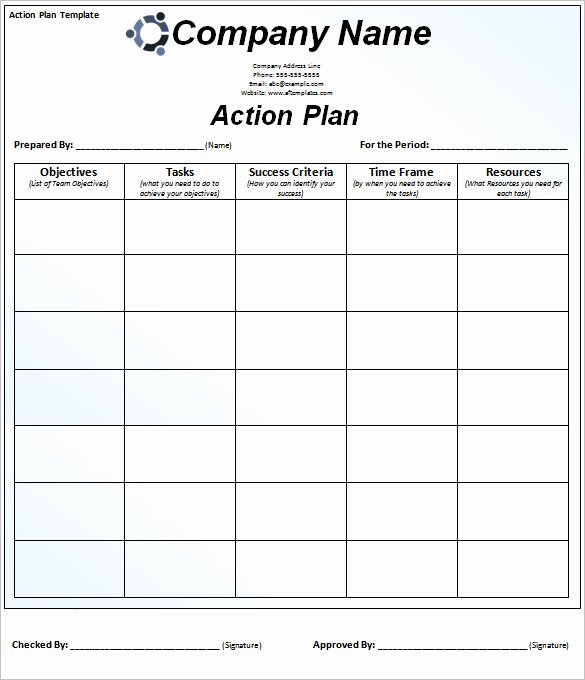 Marketing Action Plan Template Excel Beautiful 85 Action Plan Templates Word Excel Pdf