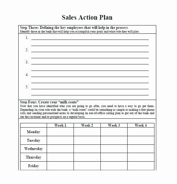 marketing action plan template free