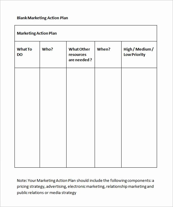 Marketing Action Plan Template Excel Fresh Marketing Action Plan Template 11 Free Word Excel Pdf