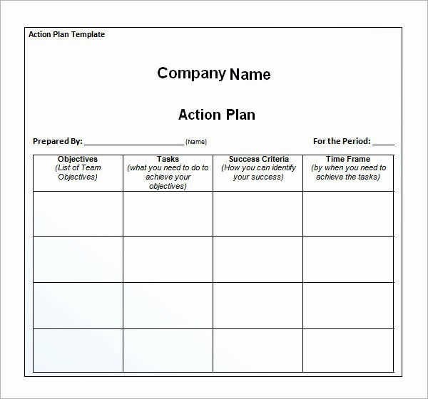 Marketing Action Plan Template Excel Inspirational 12 Action Plan Templates