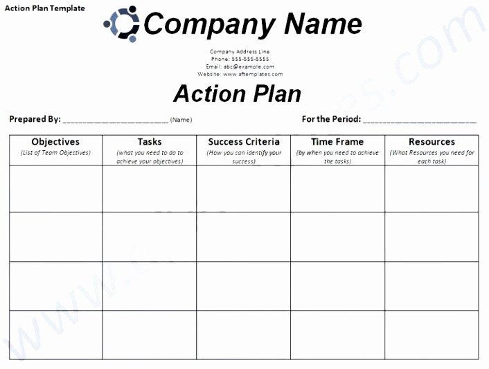 Marketing Action Plan Template Excel Inspirational 6 Smart Action Plan Template Word Poiwa