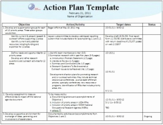 Marketing Action Plan Template Excel Inspirational top Free Action Plan Templates Word Templates Excel – Plan Bee