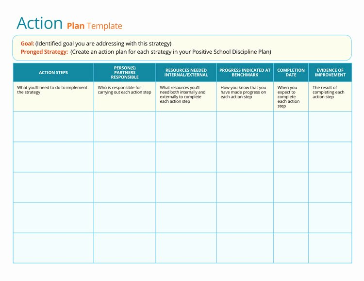 Marketing Action Plan Template Excel Luxury 58 Free Action Plan Templates & Samples An Easy Way to