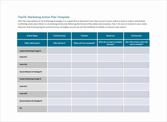 Marketing Action Plan Template Lovely 15 Marketing Action Plan Templates to Download for Free