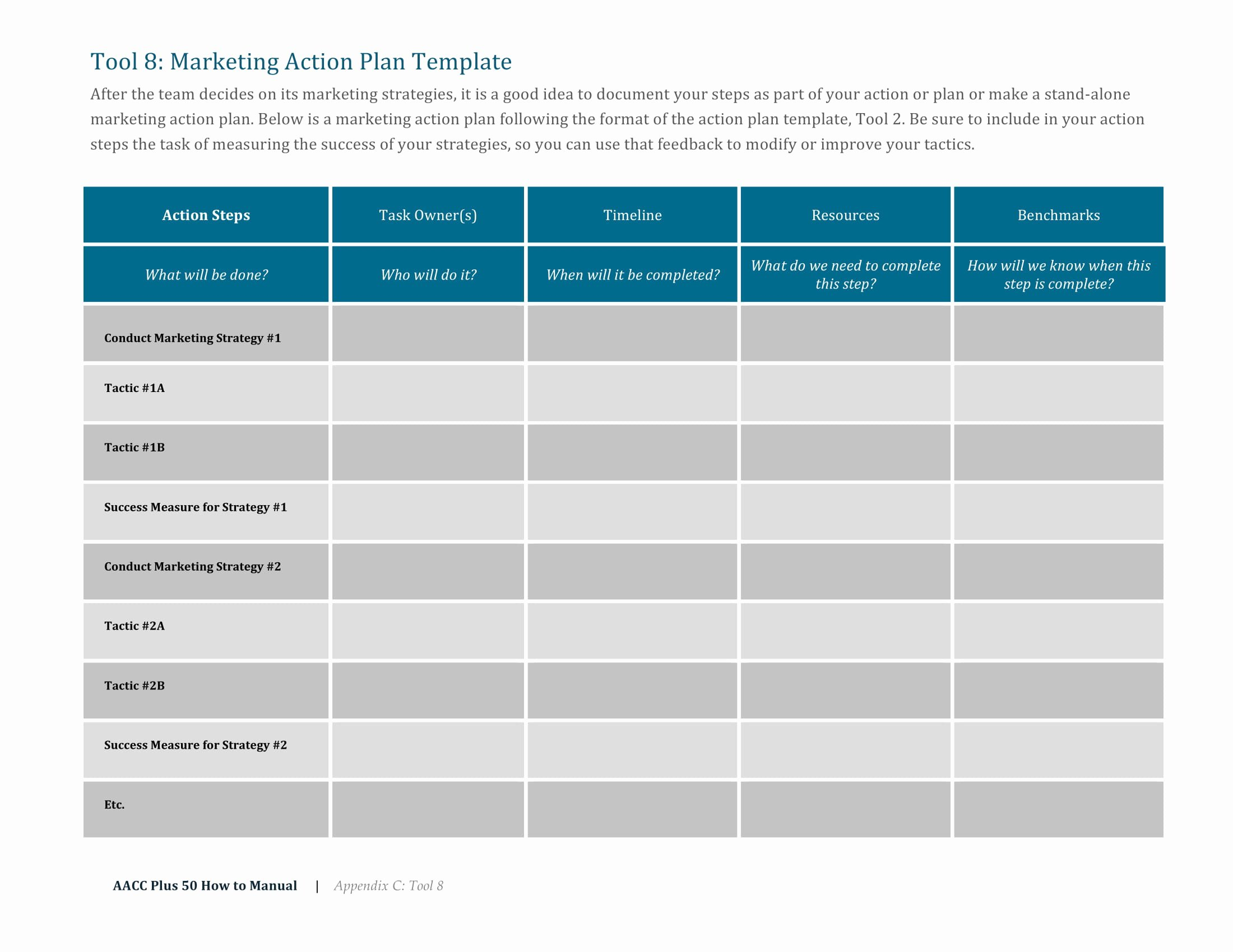 Marketing Action Plan Template Luxury 9 Marketing Action Plan Examples Pdf