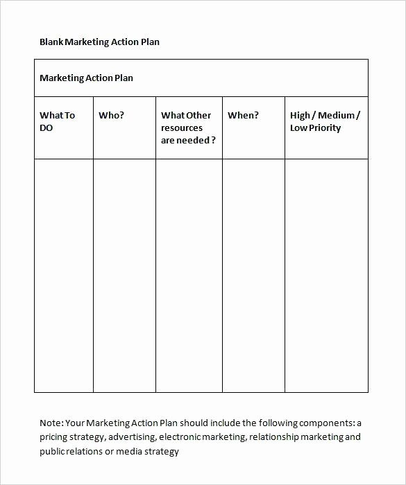 Marketing Action Plan Template Unique Action Plan Template Strategic Ppt – Grnwav