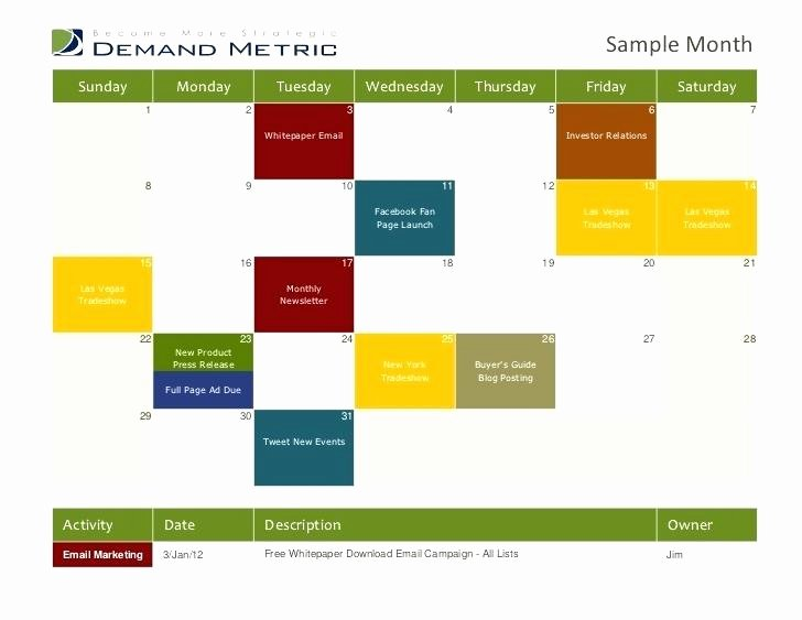 Marketing Calendar Template 2017 Awesome Email Marketing Calendar Template 2017 – Btcromaniafo