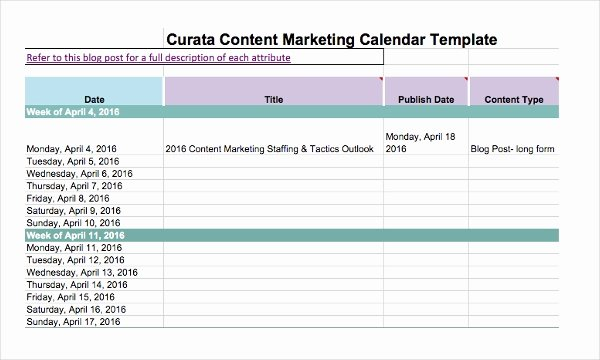 Marketing Calendar Template 2017 Elegant Marketing Calendar Template 3 Free Excel Documents