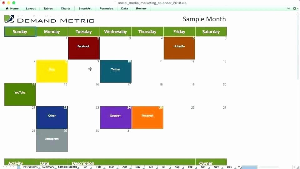Marketing Calendar Template 2017 Lovely Simple Marketing Calendar Template 2017