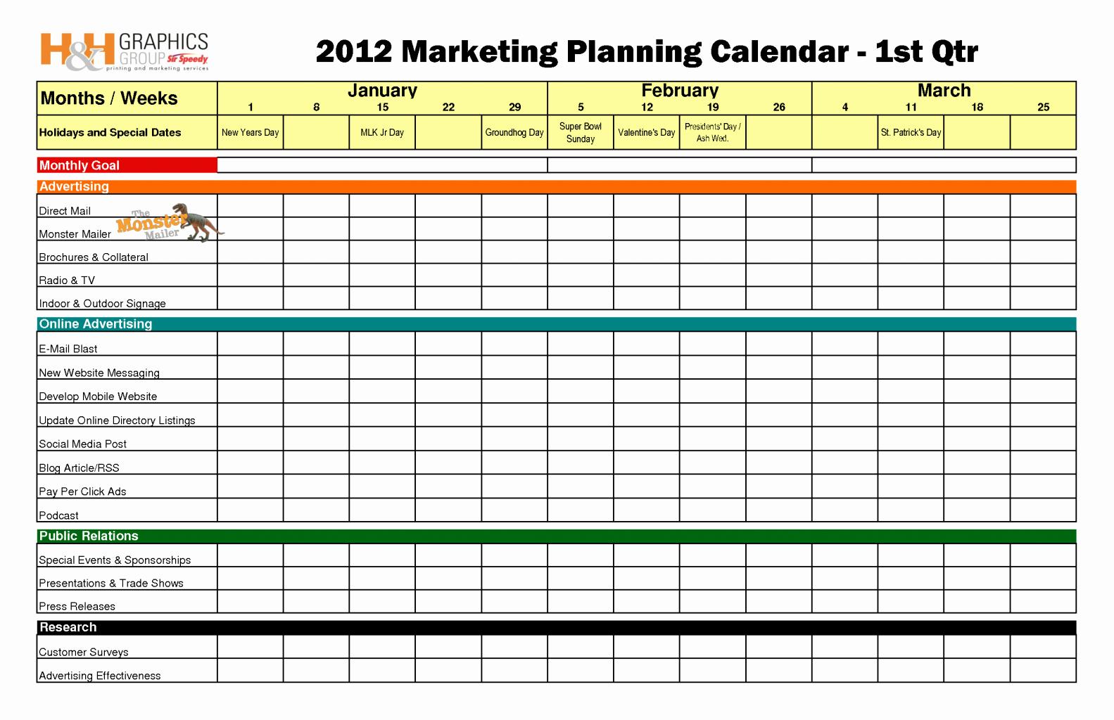 Marketing Calendar Template Excel Best Of Marketing Calendar Template