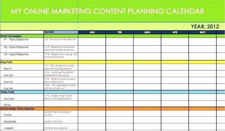 Marketing Calendar Template Excel Fresh 21 Awesome Email Marketing Calendar Template Design