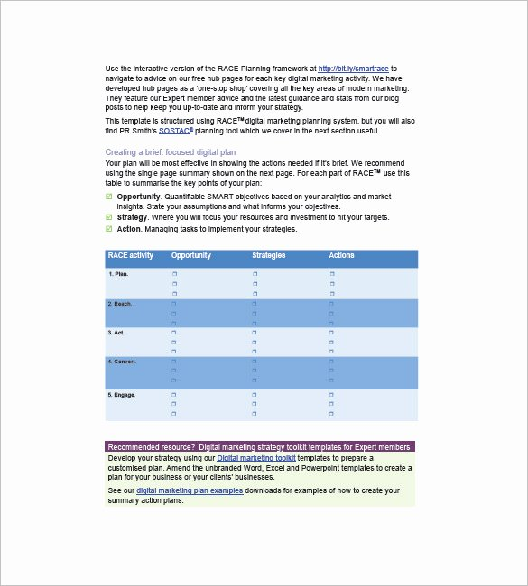 Marketing Campaign Plan Template Awesome Marketing Campaign Plan Template 11 Free Sample